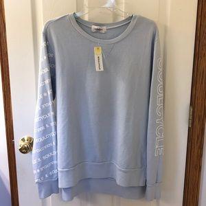 NWT soulcycle side slit sweatshirt